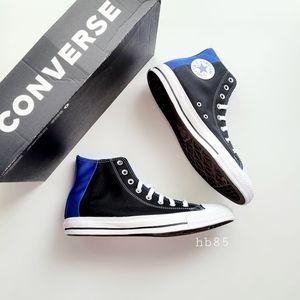 Converse CTAS Hi Black/Blue/White Color Block